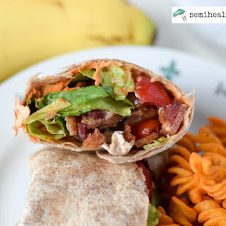 BLT Wrap with Red Pepper Hummus