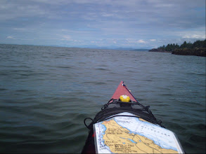 Photo: Traveling north up the Strait of Georgia with Texada Island on the right.