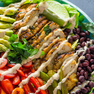 Cilantro Lime chicken Salad with skinny chipotle Ranch Dressing.