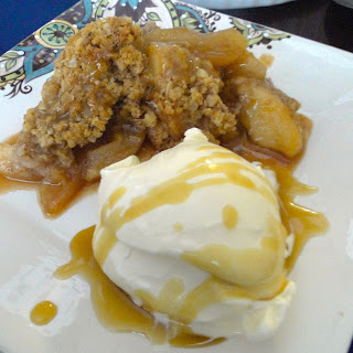 Apple Crisp w/ Bourbon Caramel Sauce