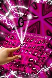 Růžová neonová klávesnice - náhled