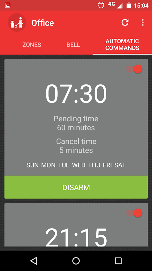 Alarm Control- screenshot