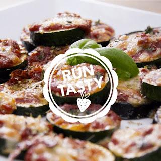 Low-Carb Zucchini & Eggplant Pizza Bites.
