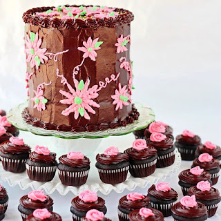 Dark Chocolate Cake and Cupcakes
