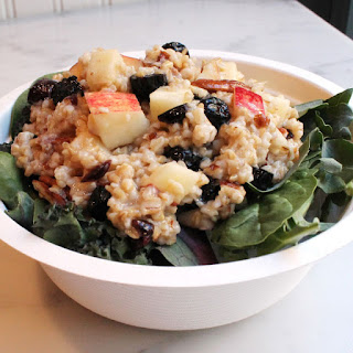 Cranberry Apple and Pecan Oat Salad.
