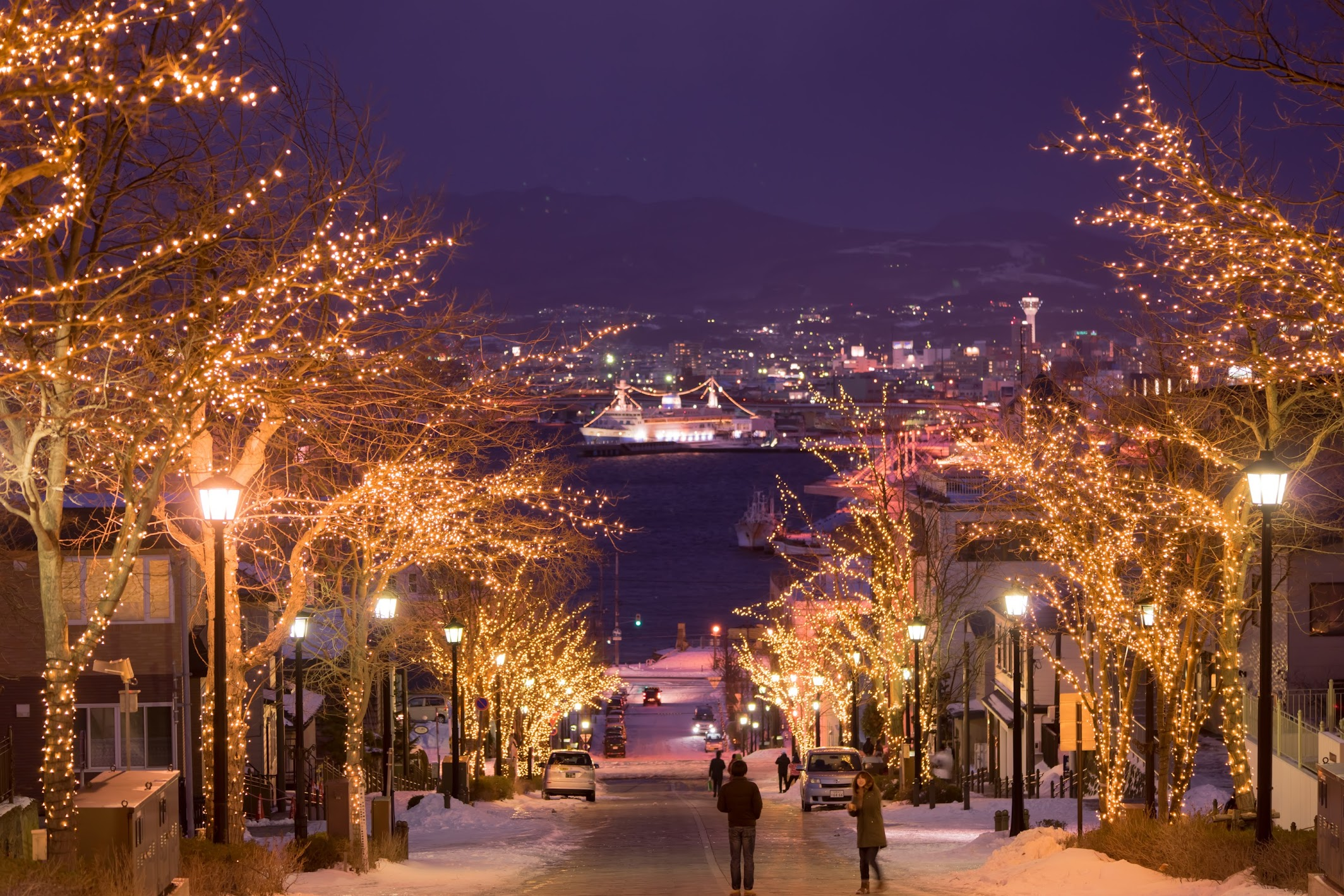 Hakodate Hachiman-Zaka Slope light-up1