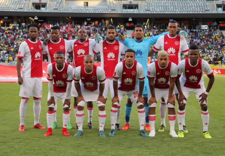 Ajax Cape Town team photo during the Absa Premiership match between Ajax Cape Town and Mamelodi Sundowns at Cape Town Stadium on January 09, 2018 in Cape Town.