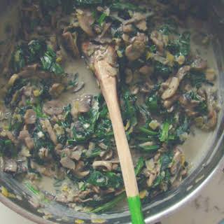 Vegetarian Mushroom and Spinach Lasagna.