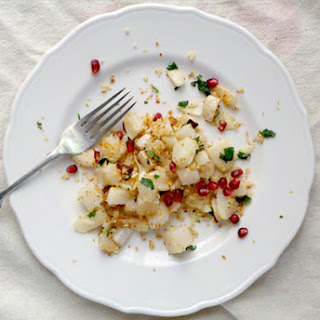 Roasted Rutabagas with Panko Gremolata and Pomegranate