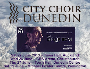 Photo: Once upon a time in a snowy cold winter in New Zealand... City Choir Dunedin on tour with the NZSO, performing Verdi's Requiem in Auckland, Christchurch, Dunedin and Wellington, June 2013