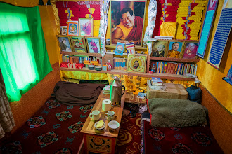 Photo: Inside a monk's hut. I spent the first night here, better experience than a 7 star hotel. I had to turn of a MP3 prayer machine, though.
