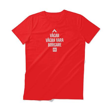 Vågar vägra vara borgare (T-shirt Unisex) RÖD