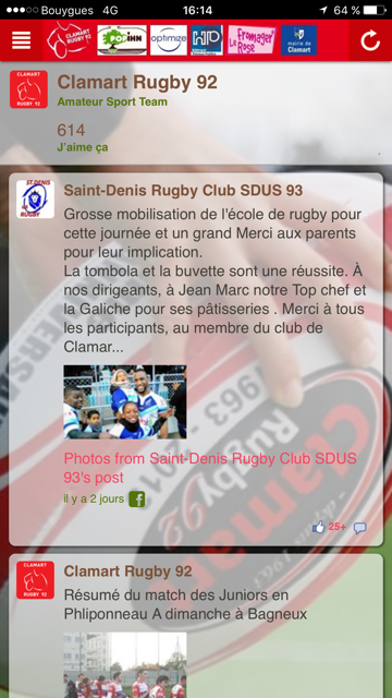 Clamart Rugby  92- screenshot