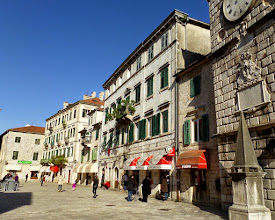 Photo: Venice ruled this area for about 400 years.  You can see the Venitian influence in their buildings.  This is the town square.