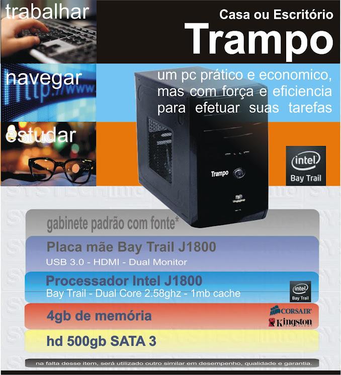 Computador Intel J1800 Trampo