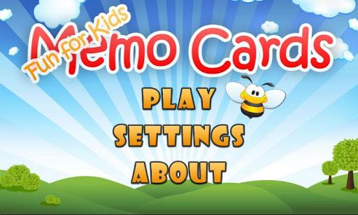 Fun For Kids - Memo Cards