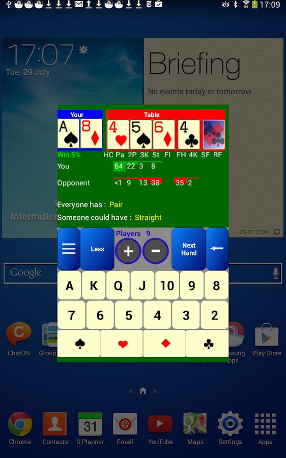 Poker Odds Calculator Free - screenshot