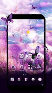 Lavender  theme butterfly theme Boutique icon - náhled