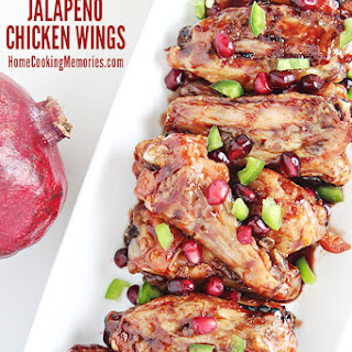 Pomegranate Jalapeno Chicken Wings.