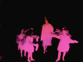 Photo: Next set of photos--dance at the theater.The tinting of the film changes periodically--green, yellow, white, pink.