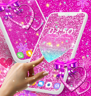 Pink glitter live wallpaper apps on google play screenshot image altavistaventures