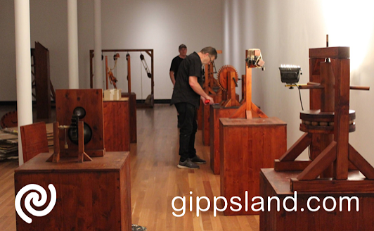 The Da Vinci Machines exhibition was installed at Latrobe Regional Gallery at Morwell this week