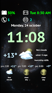 Weather Night Dock Free screenshot 0
