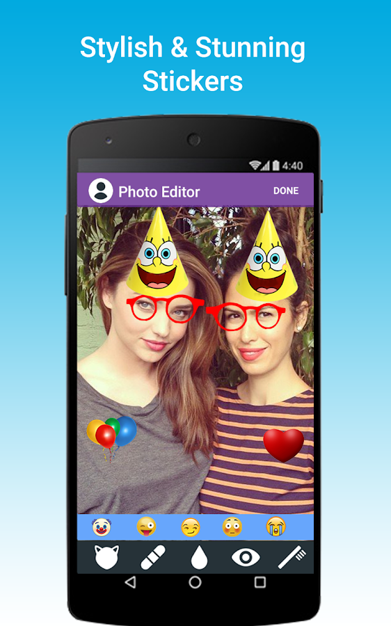 Photo Editor: Funny Stickers- screenshot