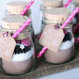 Healthy Hot Chocolate - Gifts in a Jar.