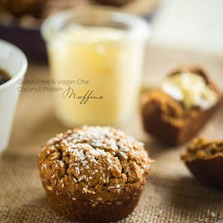Vegan Vanilla Chai Protein Muffins.