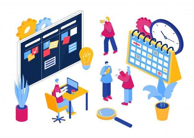 agile project management illustration_luciano castro
