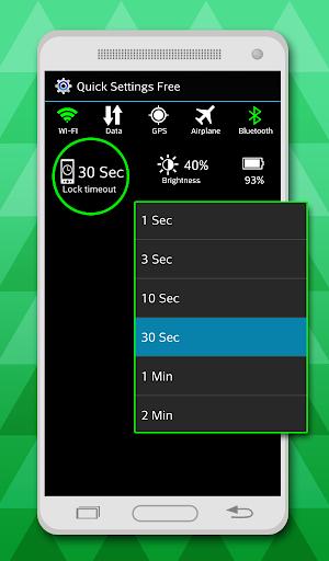 Quick Settings free 5.0 screenshots 1