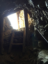Photo: Looking up at daylight from a battle cave