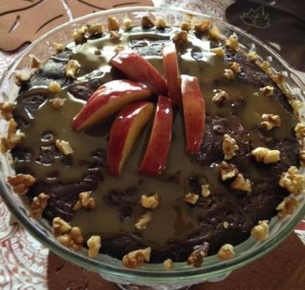 Caramel Apple Walnut Brownie Pie Recipe
