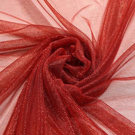 Glitternät - röd
