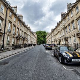 Bath (UK) by Gianluca Presto - Buildings & Architecture Homes ( car, city, street, buildings, homes, perspective, street photography, building, home, architecture )