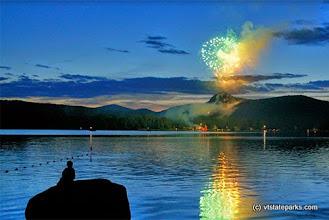 Photo: Fireworkd from Boulder Beach State Park