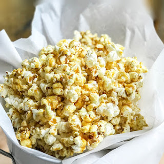 Homemade Sweet and Spicy Coconut Curry Popcorn.