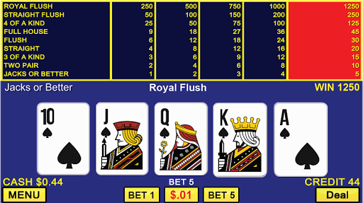 Video Poker Casino Games 1.2.7 screenshots 1