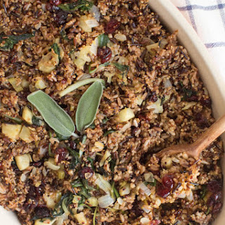 Wild Rice and Quinoa with Apple Cranberry and Greens Recipe