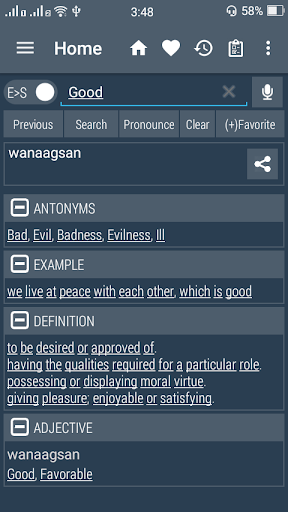 English Somali Dictionary screenshots 1