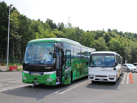 網走観光交通「まりも急行札幌号」 ・369 占冠パーキングエリアにて