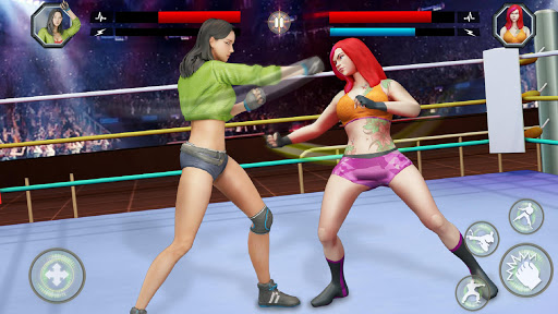 Women Wrestling Rumble: Backyard Fighting apkpoly screenshots 5