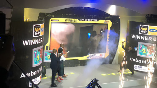 Ambani Africa crowned overall winner of the MTN Business App of the Year Awards 2021. (Photo via: Twitter)