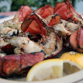 Charcoal Grilled Lobster Tails.