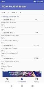 NCAA Football Stream Premium (Ads Free) 3