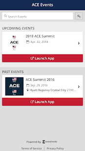 ACE Events App - náhled