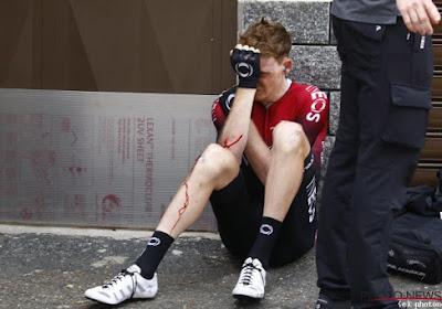 Tao Geoghegan Hart breekt sleutelbeen bij valpartij in de Giro