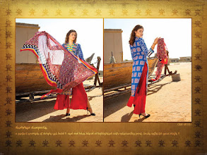 Photo: CODE: 1051-FABRIC-TOP COTTON-BOTTOM COTTON-DUPATTA CHIFFON . Price : USD 32