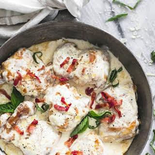 Creamy Asiago Bacon Chicken.